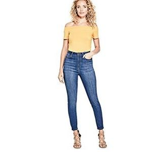 Guess Super High Waist Ankle Skinny Jean 28